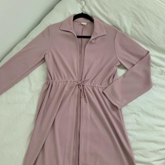 Long violet cardigan